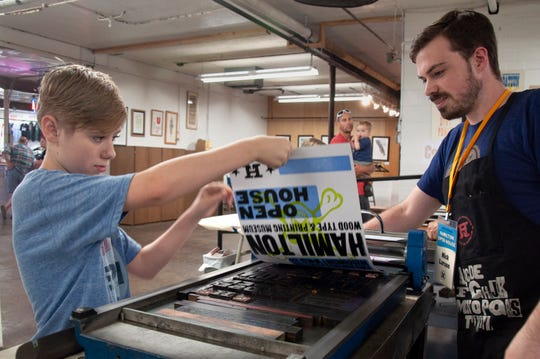 Attendees of all ages can participate in the art-making at the Hamilton Wood Type Museum's 20th Anniversary Celebration and Open House.