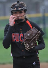 Lucas' Erica Westfield tossed a 5-inning perfect game collecting 13 strikeouts including 12 straight to start the game as the Lady Cubs clinched the MBC title.