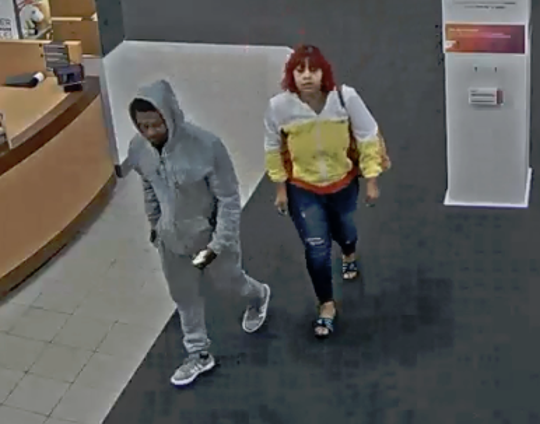 Menomonee Falls police have released this surveillance photo of two suspects who were seen stealing name-brand sports merchandise from Kohl's on the evening of April 25.