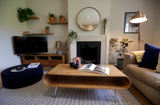 Marriott is pushing more heavily into home-sharing. This is the living room of a flat that will be available for short-term rent in London.