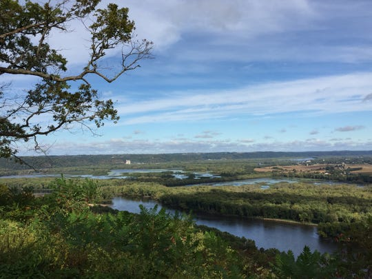 A perk of volunteering as a campground host at Wyalusing State Park: Campsite views like this of the confluence of the Wisconsin and Mississippi rivers.
