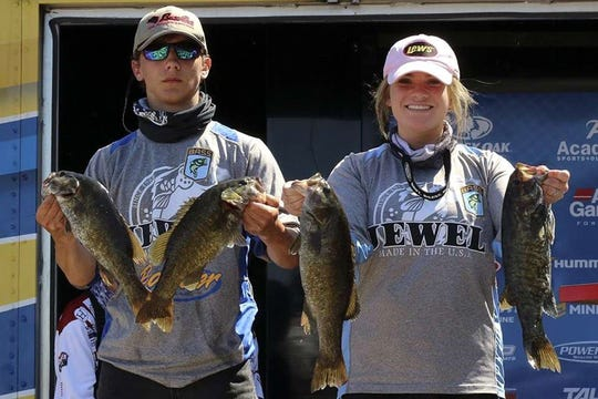 Mountain Home's Lance Lee and Courtney Barron finished 10th at the Bassmaster Mossy Oak High School bass tournament on Sunday on Norfork Lake.