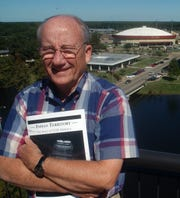 """Anderson remained a fixture at sporting events began writing a book about the history of ULM athletics afrer retiring. The product of his 10-year labor of love, """"Indian Territory,"""" was published in 2003."""