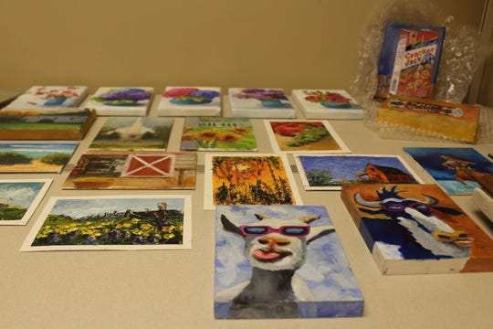 Some of the 30 paintings to be displayed at Pike Road Town Hall as part of the state's bicentennial will be available for purchase during a reception, art show and sale to be held on May 7 from 5 p.m. to 7 p.m.  The works depict historical sites, landscapes, and other settings in Alabama. They will be on display from May 6 to May 17.