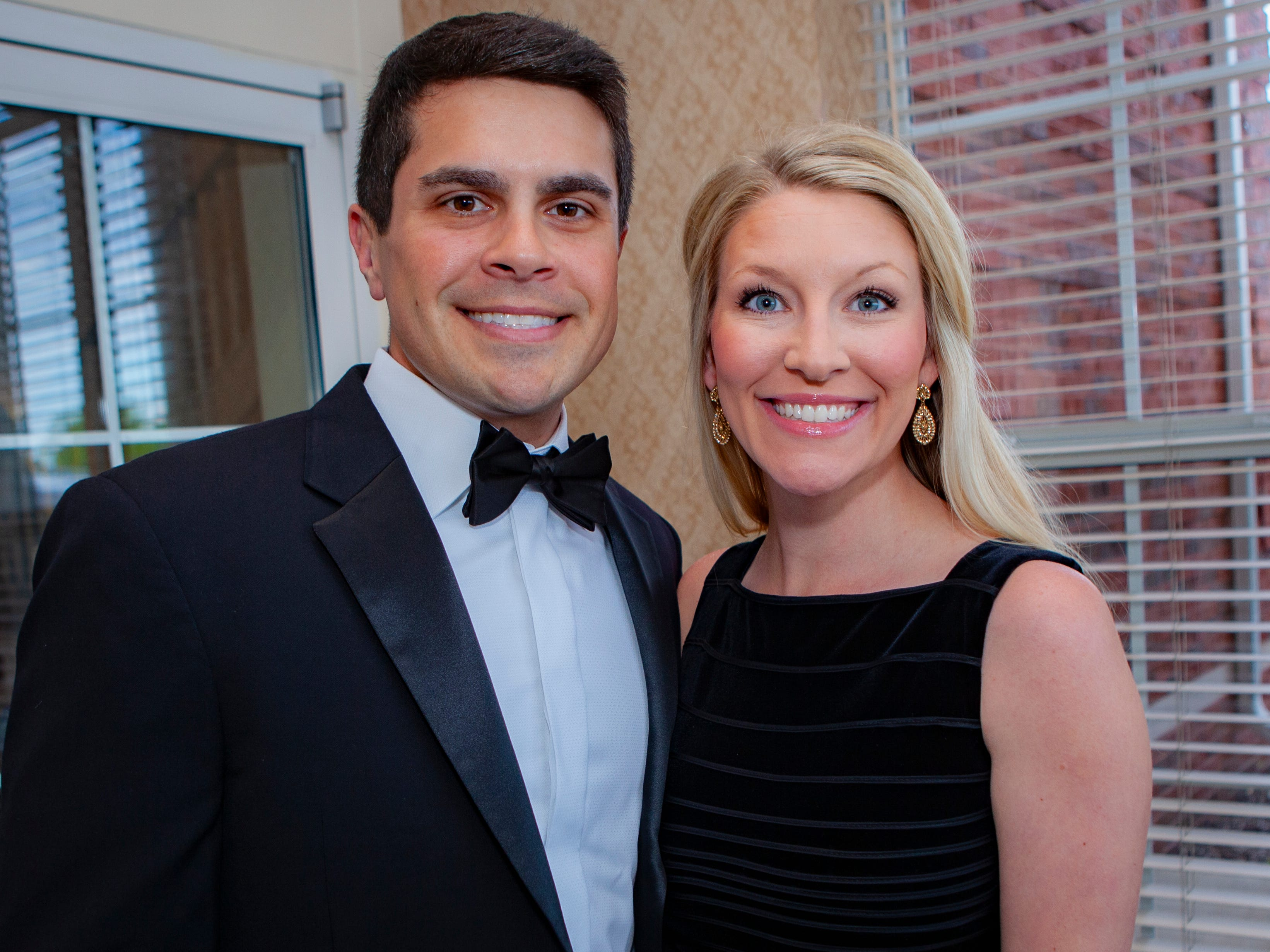 Aaron and Asheton Bertrand at the Charity Circle of Murfreesboro's 52nd Annual Duck Ball, held Saturday, April 27, 2019.