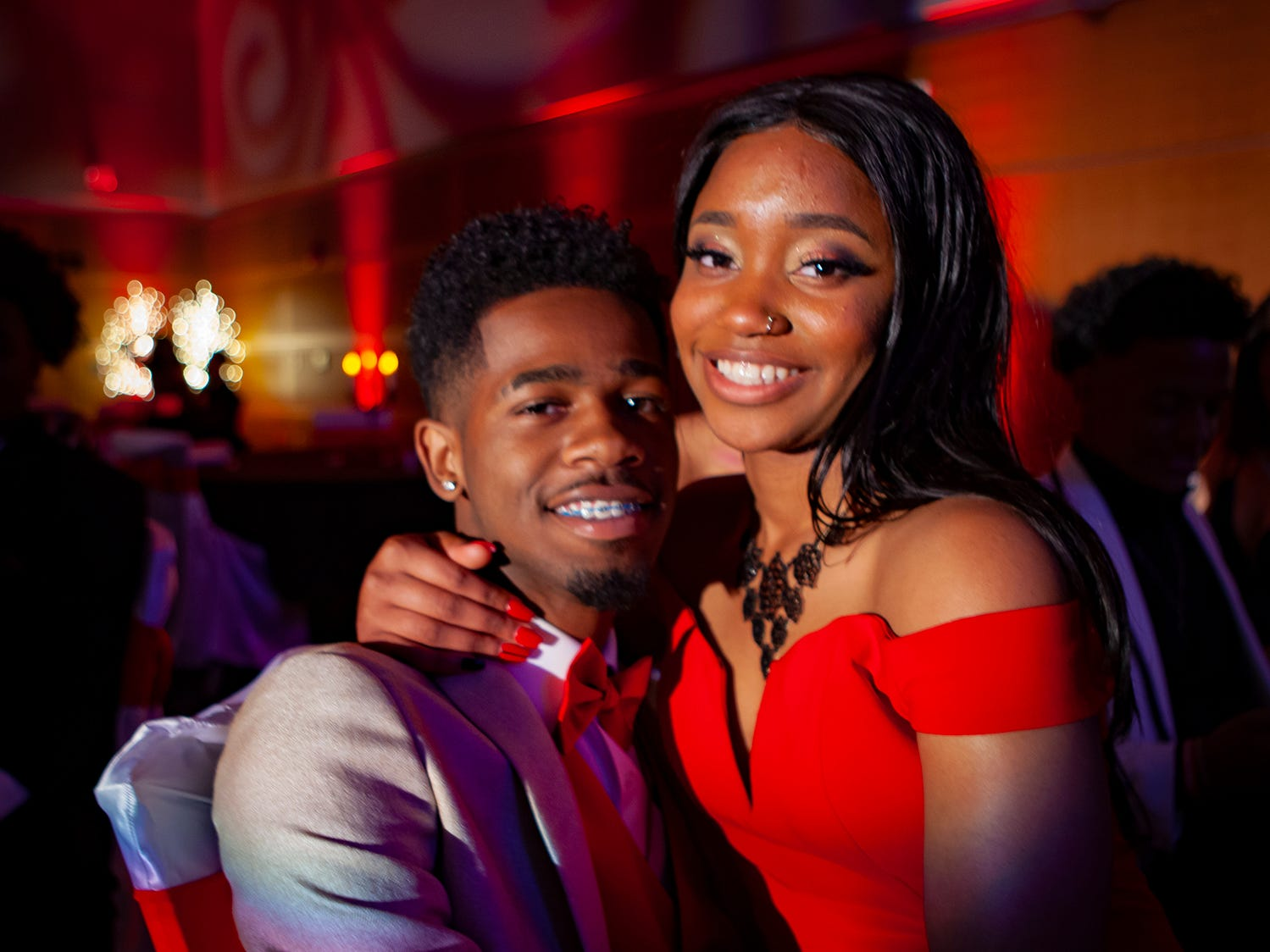 Johnny Nelson and Quay Hill at Riverdale's prom, held Saturday, April 27, 2019 at MTSU's Student Union Building.