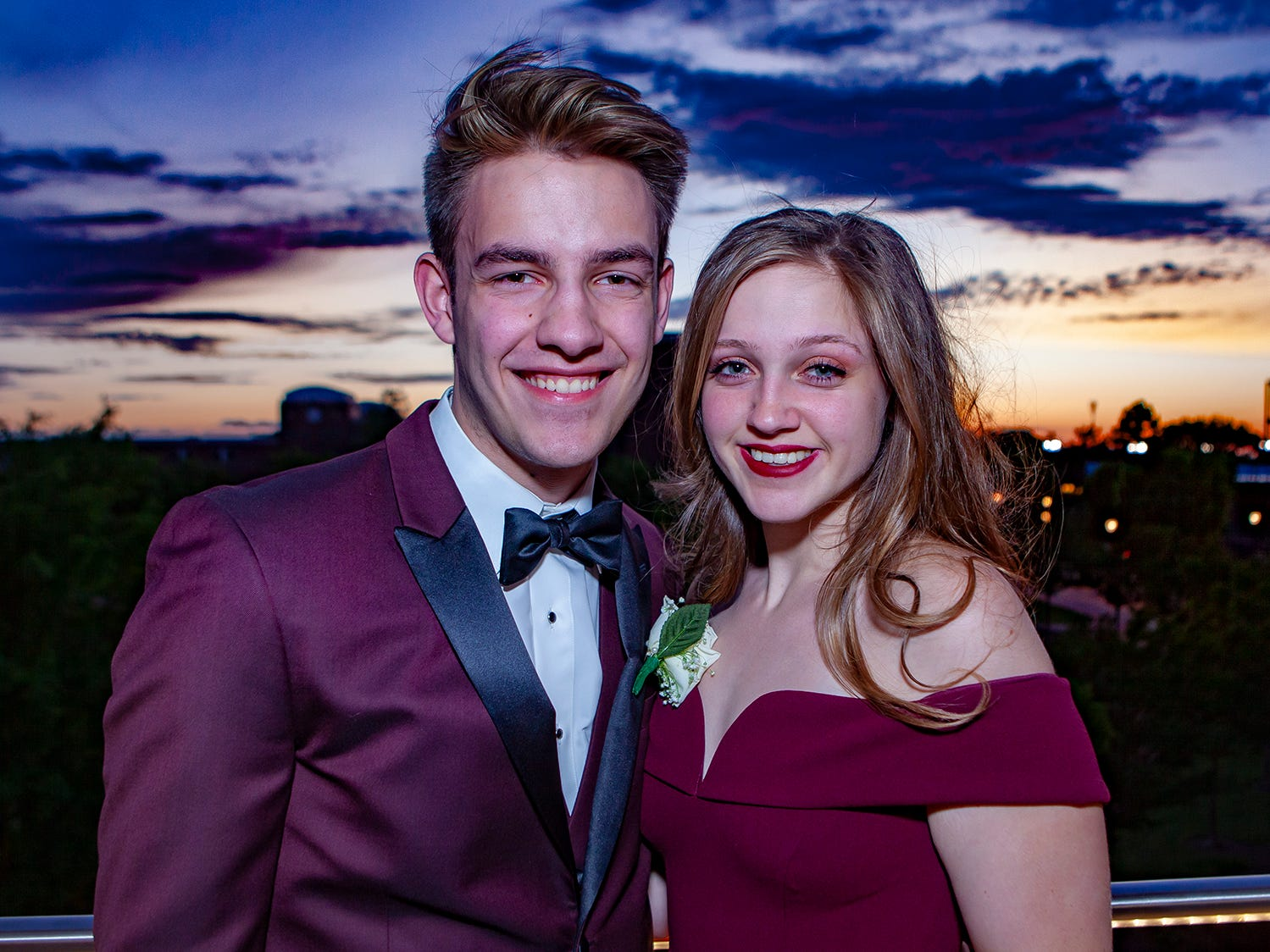 Mac Granholm and Kelcey Atwell at Riverdale's prom, held Saturday, April 27, 2019 at MTSU's Student Union Building.