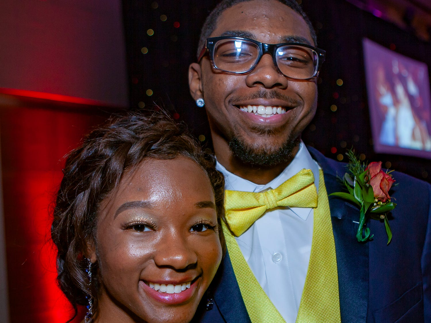 Zion Ross and Camari Robinson at Riverdale's prom, held Saturday, April 27, 2019 at MTSU's Student Union Building.