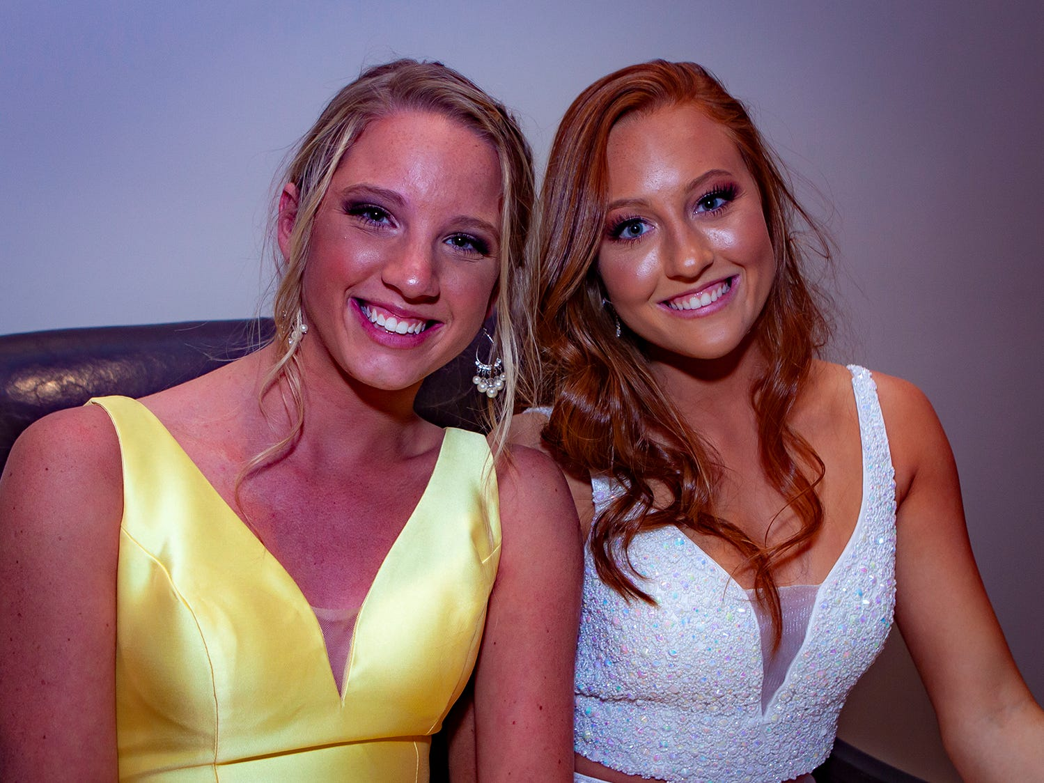 Annah Crego and Sydney Mikulon at Riverdale's prom, held Saturday, April 27, 2019 at MTSU's Student Union Building.