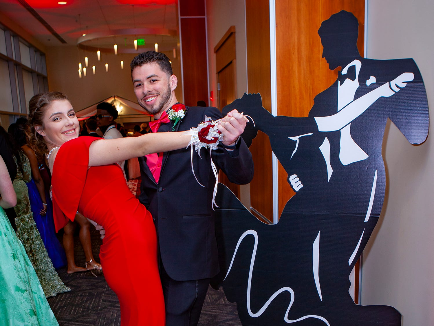 Kayla Dubois and Daniel Caravaca at Riverdale's prom, held Saturday, April 27, 2019 at MTSU's Student Union Building.