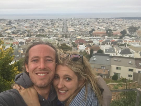 Lexi Barnett and George Livingston are frugal so they can travel across the world, including a previous trip to San Francisco.