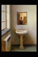 """Juliette Aristides, """"Sink,"""" 2018, oil on panel, 24""""x18."""""""