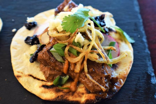 El Toro steak taco at K-Rico Mexican Grill, which launched Monday, April 29, 2019, in the former longtime restaurant space of Roy's at Bayfront in Naples.