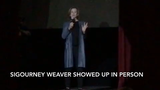 Sigourney Weaver, star of the film 'Alien,' surprises the audience and cast of 'Alien' the play at North Bergen High School on Friday, April 26, 2019