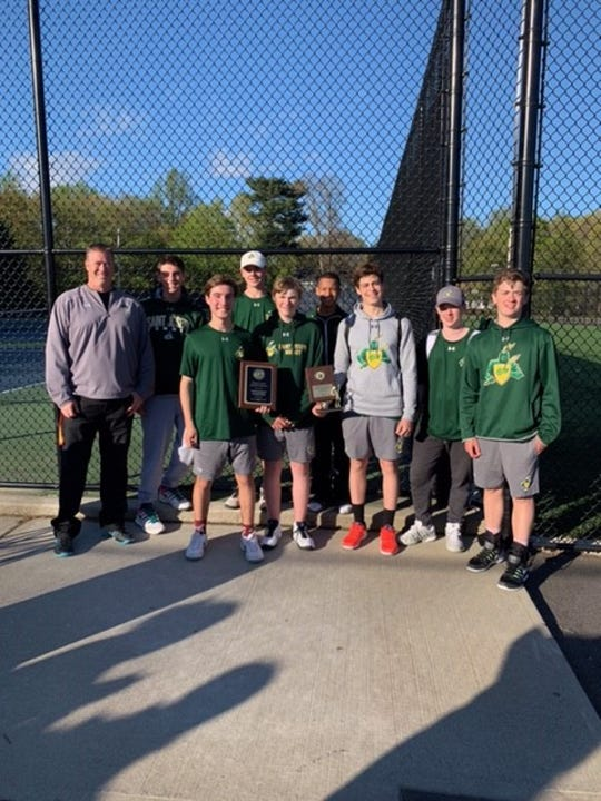 St. Joseph Regional finished in a tie for first place in the team standings in Saturday's Spring Invitational Boys Tennis Tournament.