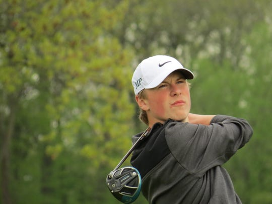 Joe Furlong helped Midland Park finish second at the Arcola Invitational golf tournament at Arcola Country Club in Paramus on Monday, April 29, 2019.