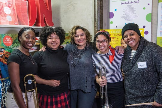 Some members of Chica Power at Jazz House Kids in Montclair: Monae Clancy, Abby Aska, Melissa Walker, Emily Springer and Whisper McRae.