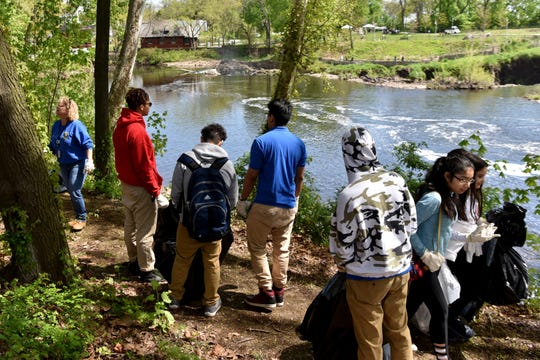 Seven Paterson schools participated in the seventh annual Earth Day Clean-Up of the Great Falls National Historic Park on Monday, April 29, 2019.