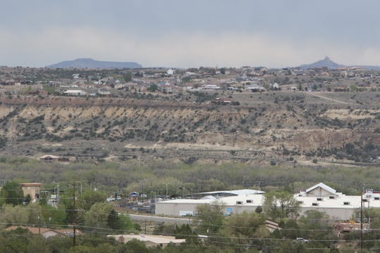"""Bluffs are pictured, Monday, April 29, 2019, from Lions Wilderness Park in Farmington. San Juan County received a """"D"""" grade from the American Lung Association for ozone pollution."""