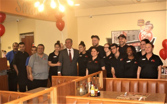 Pictured are some of the close to 50 staff of the recently-opened Big Boy in Garden City.