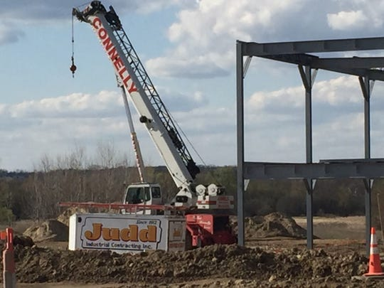 Construction is underway on the Northville Township side of Five Mile Road.