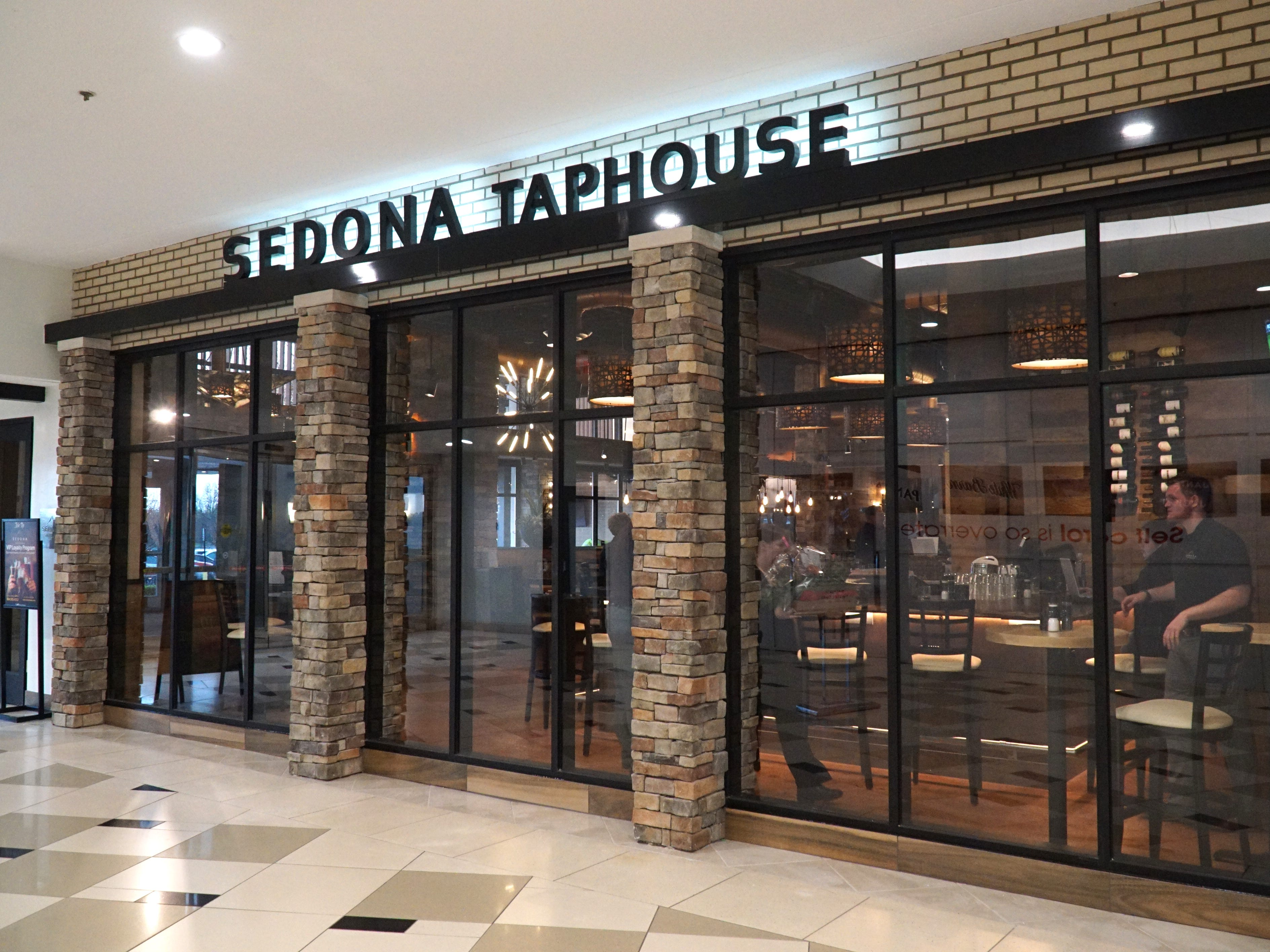 The Sedona Taphouse at Novi's Twelve Oaks Mall. The pub and restaurant is located on the upper level near J.C. Penny's.