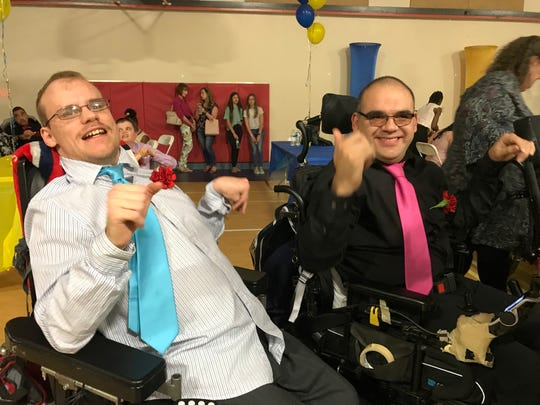 On this special night, the focus isn't on the attendees' disabilities. The focus is on the way they rock a stylish gown or coordinate outfits with the perfect tie.