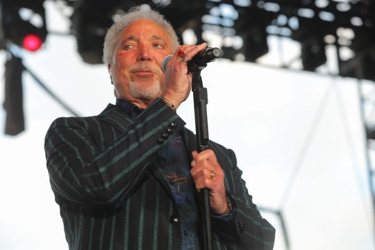 Tom Jones performs at the Stagecoach country music festival, Indio, Calif., April 28, 2019.