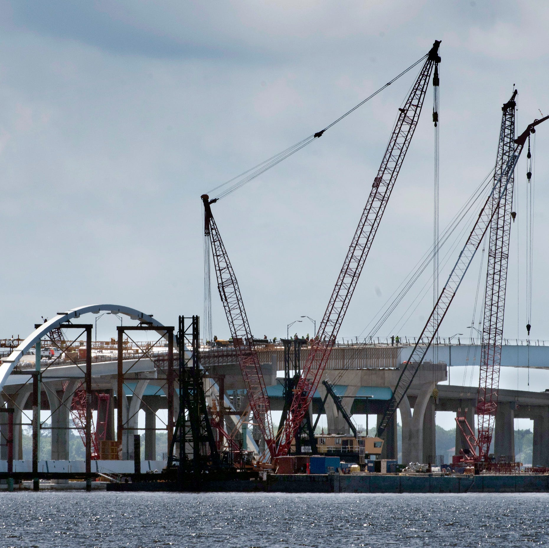 Massive arch for top of new Pensacola Bay Bridge set for placement in May