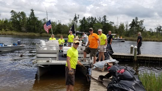 On Saturday, April 13, the Blackwater Pyrates conducted their 13th annual river cleanup. The cleanup focused on removing trash from Wright's Basin south to the mouth of Blackwater Bay.