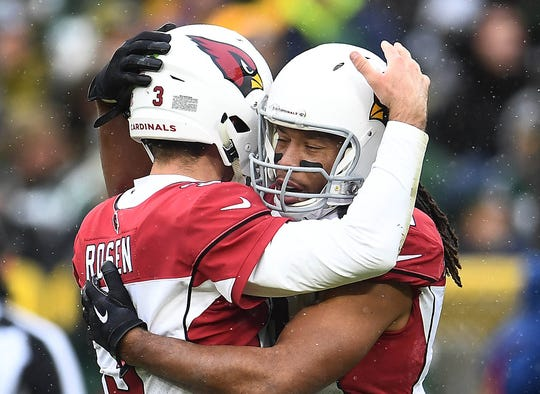 Larry Fitzgerald is a Josh Rosen fan.