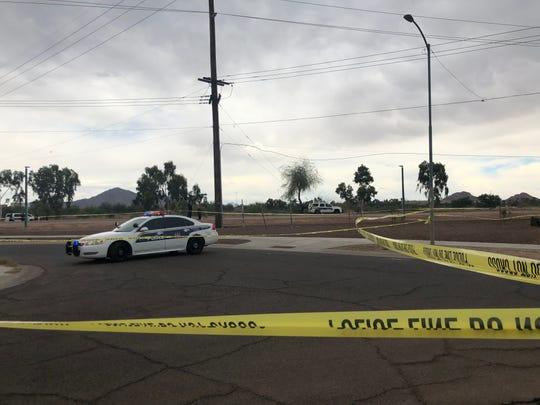 Phoenix police were at the scene of a fatal shooting involving an officer on April 29, 2019.