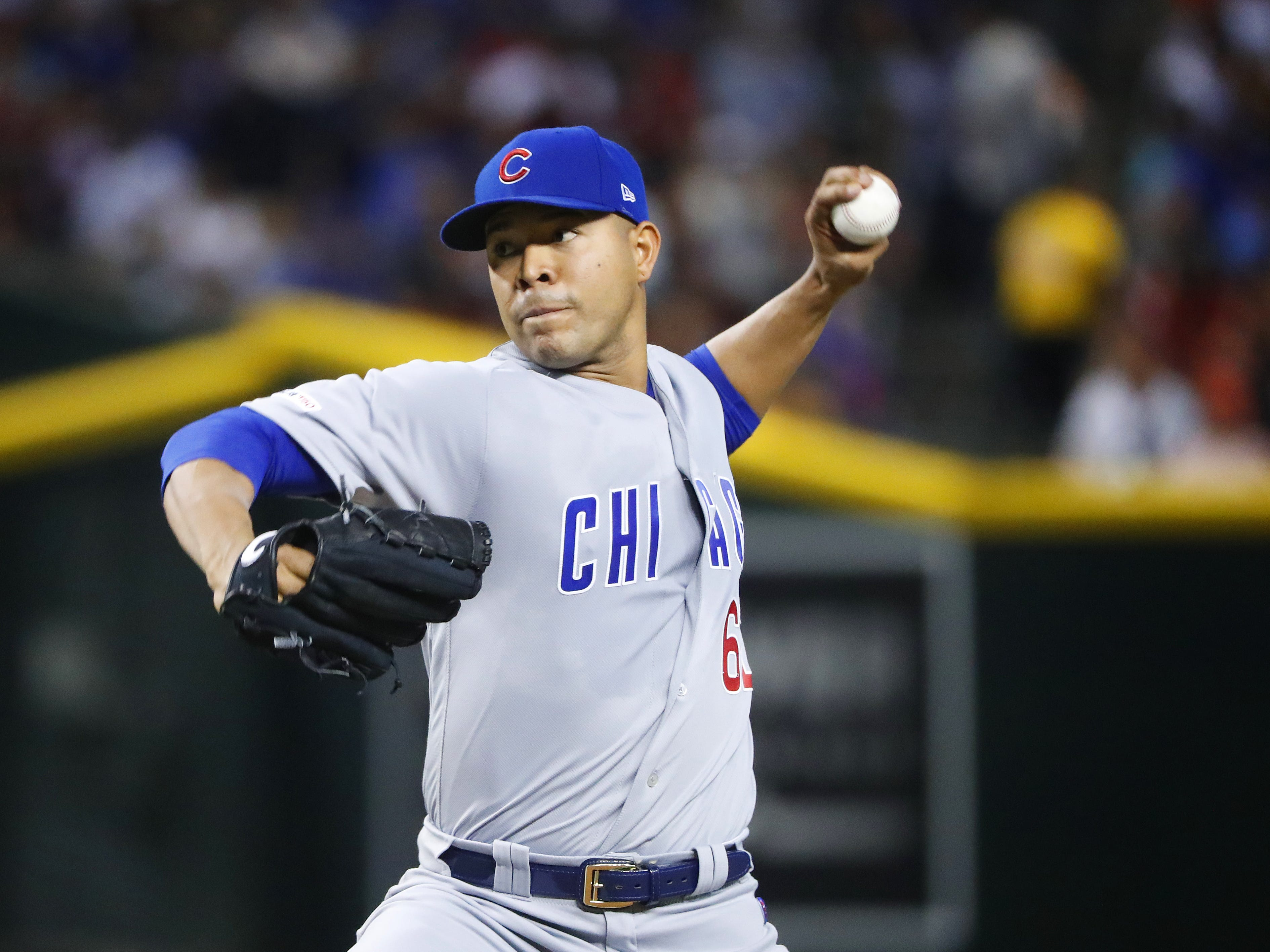 Cubs' Jose Quintana (62) pitches during the first inning against the Diamondbacks at Chase Field in Phoenix, Ariz. on April 28, 2019.