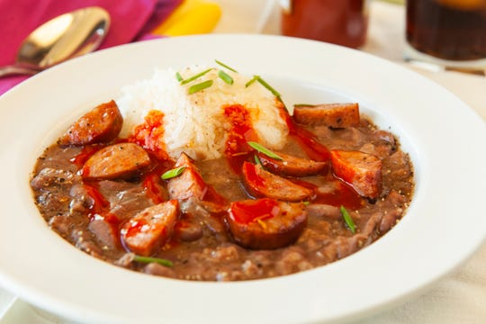 Red Beans and Rice from VooDoo Daddy's Steam Kitchen in Tempe.