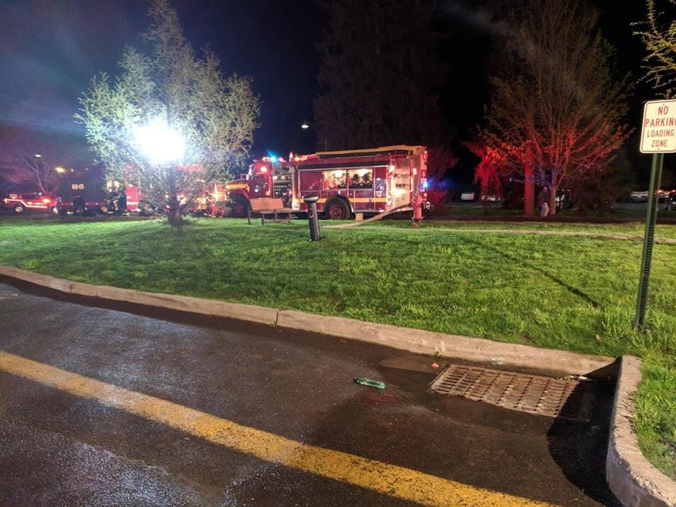 Multiple fire agencies responded to Robbins House dormitory at Bard College on Sunday, April 28 in response to a reported fire.