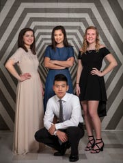 The 2019 Senior Honor Recital will feature (from left) Lauren Danforth, Jack Williams, Clara Montes and Kaitlin Knocke.