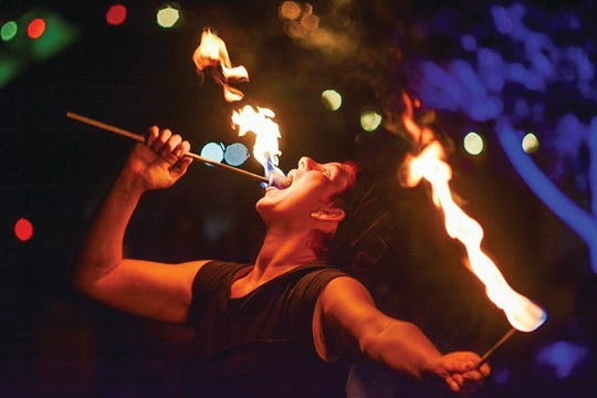Lakeside Luminaries will be on hand to amaze and impress with their fire-handling skills.
