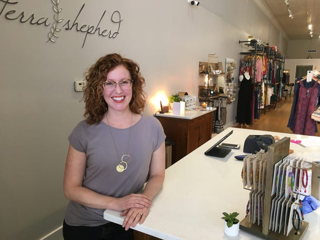 Sara Jamison, owner of new downtown Sioux Falls store Terra Shepherd. Located at 218 S. Phillips Ave., Terra Shepherd sells fair trade products made with natural ingredients.