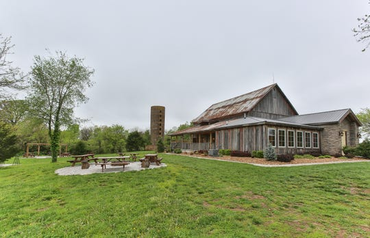 The Barn at Belamour features several outdoor gathering spaces.