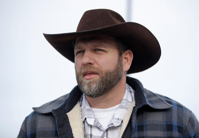 Ammon Bundy, one of the sons of Nevada rancher Cliven Bundy, speaks with reporters during a news conference at Malheur National Wildlife Refuge headquarters Jan. 4, 2016, near Burns.