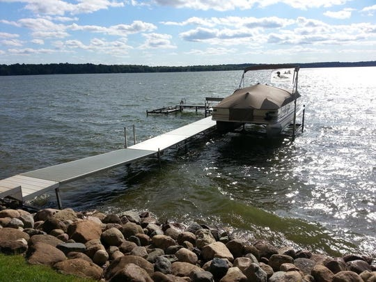 The property sits on Clearwater Lake.