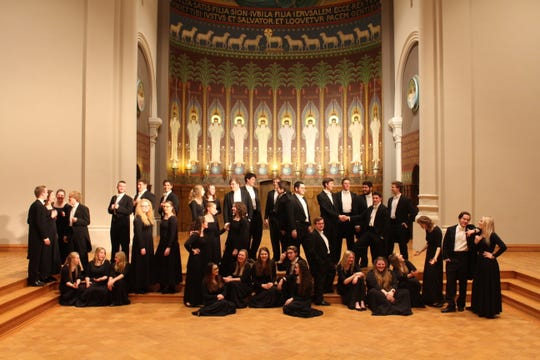 Choral students at the College of St. Benedict and St. John's University will hold a performance ahead of their European trip at 8 p.m. May 3 at St. John's Abbey and University Church in Collegeville.