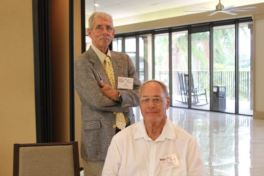 Friends of the St. Lucie County Library members Jim Wilder, left, and Dr. Rudy Widman at the 2019 Volunteer Appreciation Luncheon in St. Lucie West.
