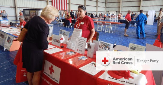 Florida's Coast to Heartland Chapter of the American Red Cross will host its annual Hangar Party in the Corporate Air Hangar of the Vero Beach Regional Airport from 5:30 to 8:30 p.m. May 17.  Pictured is a scene from the 2018 Hangar Party.