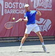 Matic Spec of Slovenia, a former standout player from the University of Minnesota won his first qualifying match on Monday.