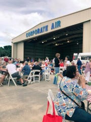 Florida's Coast to Heartland Chapter of the American Red Cross Hangar Party in the Corporate Air Hangar of the Vero Beach Regional Airport is a free family event for the community to prepare for the hurricane season, which begins in June. Pictured is a scene from the 2018 Hangar Party.