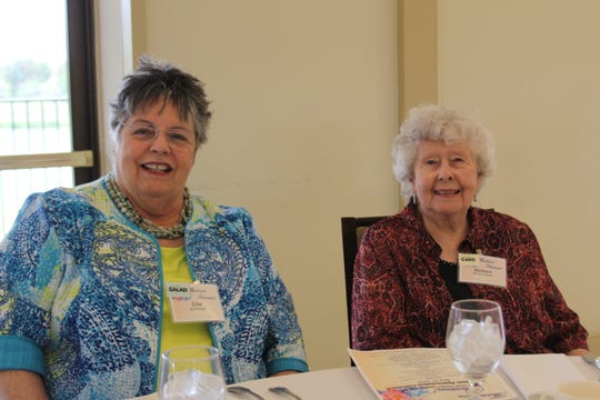 St. Lucie County Library volunteers Ellie Packer, left, and Barbara Stewart at the 2019 Volunteer Appreciation Luncheon in St. Lucie West.