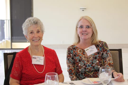 St. Lucie County Library volunteers Jackie Gillespie, left, and Karen Gottwald at the 2019 Volunteer Appreciation Luncheon in St. Lucie West.