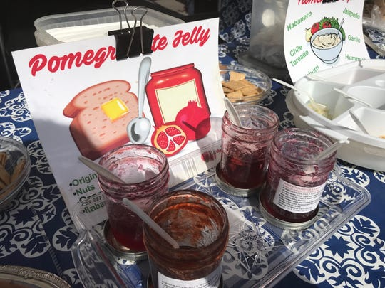Pomegranate jellies are one of the tasty products available through area farmers markets like the Horizon farmers market.