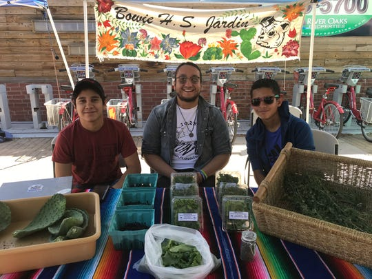 The Downtown Farmers Market has a good variety of environmentally-friendly booths including the Bowie High School Jardin which sells cilantro and other herbs it grows.